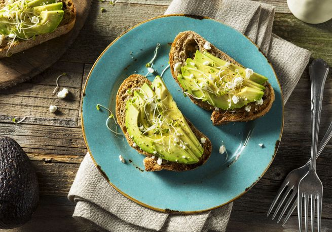 Avocado als Brotbelag
