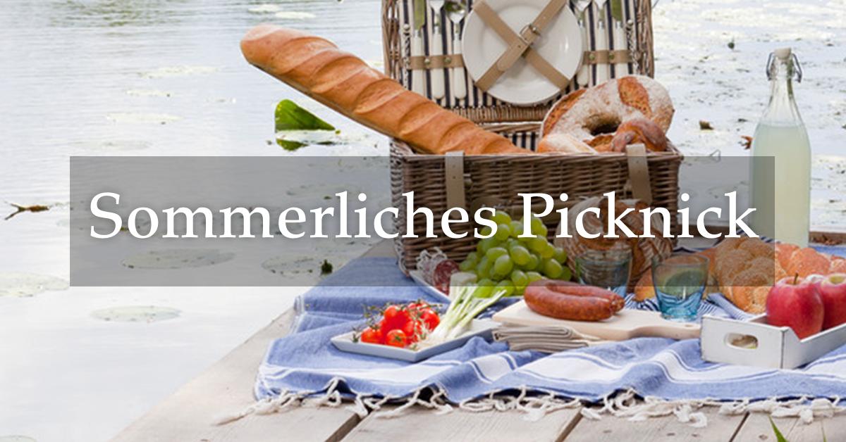 sommerliches picknick genie en im gr nen deutsche innungsb cker. Black Bedroom Furniture Sets. Home Design Ideas